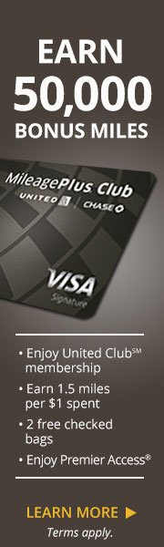 AD: Learn more about earning 50,000 bonus miles, a United Club membership, 1.5 miles per dollar spent, two free checked bags and Premier Access with the United MileagePlus Club Card.