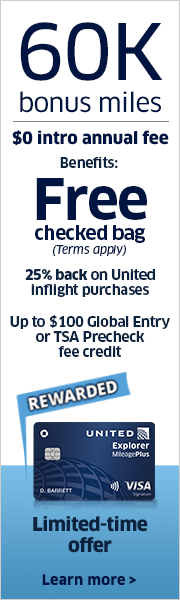 Advertisement: Earn 60,000 bonus miles with the United Explorer Card.