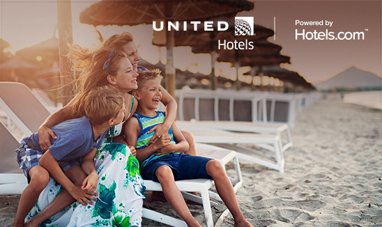 Get special member deals and earn miles with United Hotels.