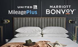 Convert Marriott Bonvoy™ points to MileagePlus miles for 10% more miles.