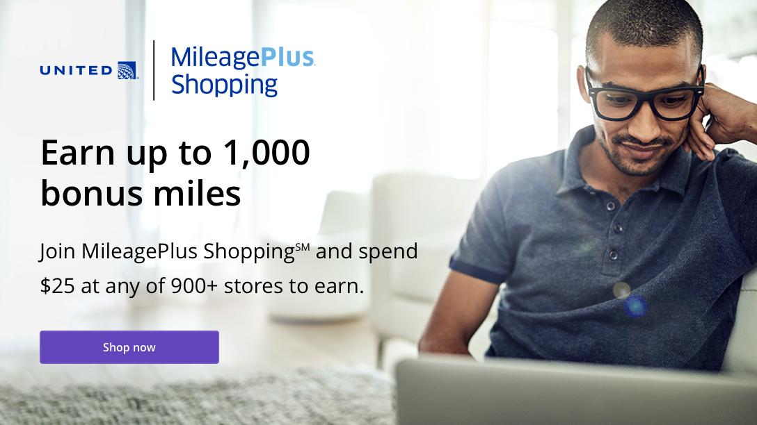 MileagePlus Shopping   New Member Bonus