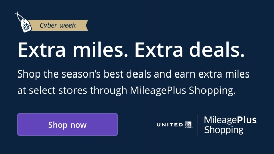 Shp the season's best deals and earn extra miles at select stores through MileagePlus Shopping.