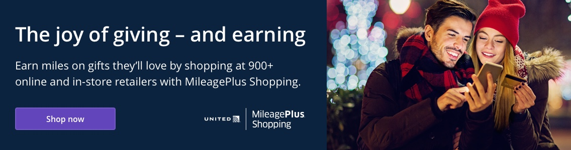 The joy of giving - and earning Earn miles at 900+ stores with MileagePlus Shopping. Shop now