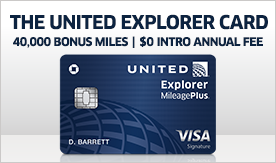 The all new United explorer card, 40,000 Bonus miles | $100 statement credit