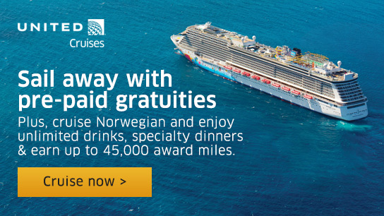 United Cruises - Sail away with pre-paid gratuities. Plus, cruise Norwegian and enjoy unlimited drinks, specialty dinners and earn up to 45,000 award miles. Cruise now!