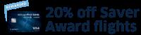20% off Saver Awards flights