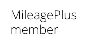 MileagePlus member