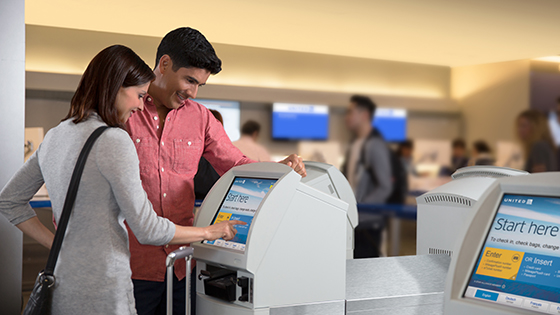 Using Our Airport Kiosks