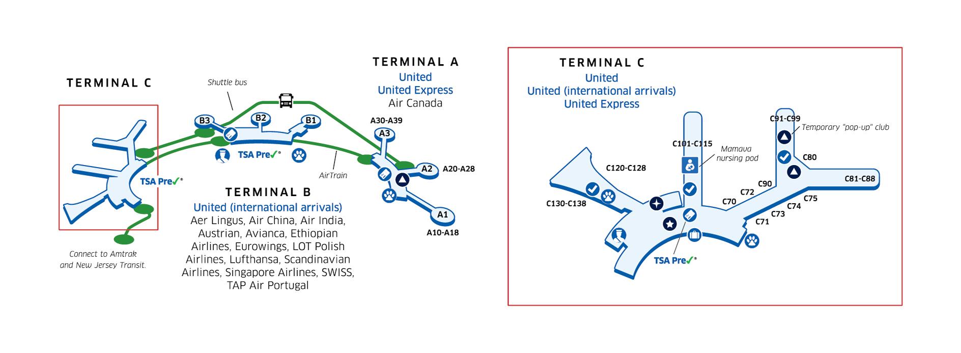 EWR Airport Terminal Map