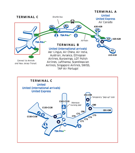 newark nj airport terminal map New York Newark Liberty International Airport Ewr newark nj airport terminal map