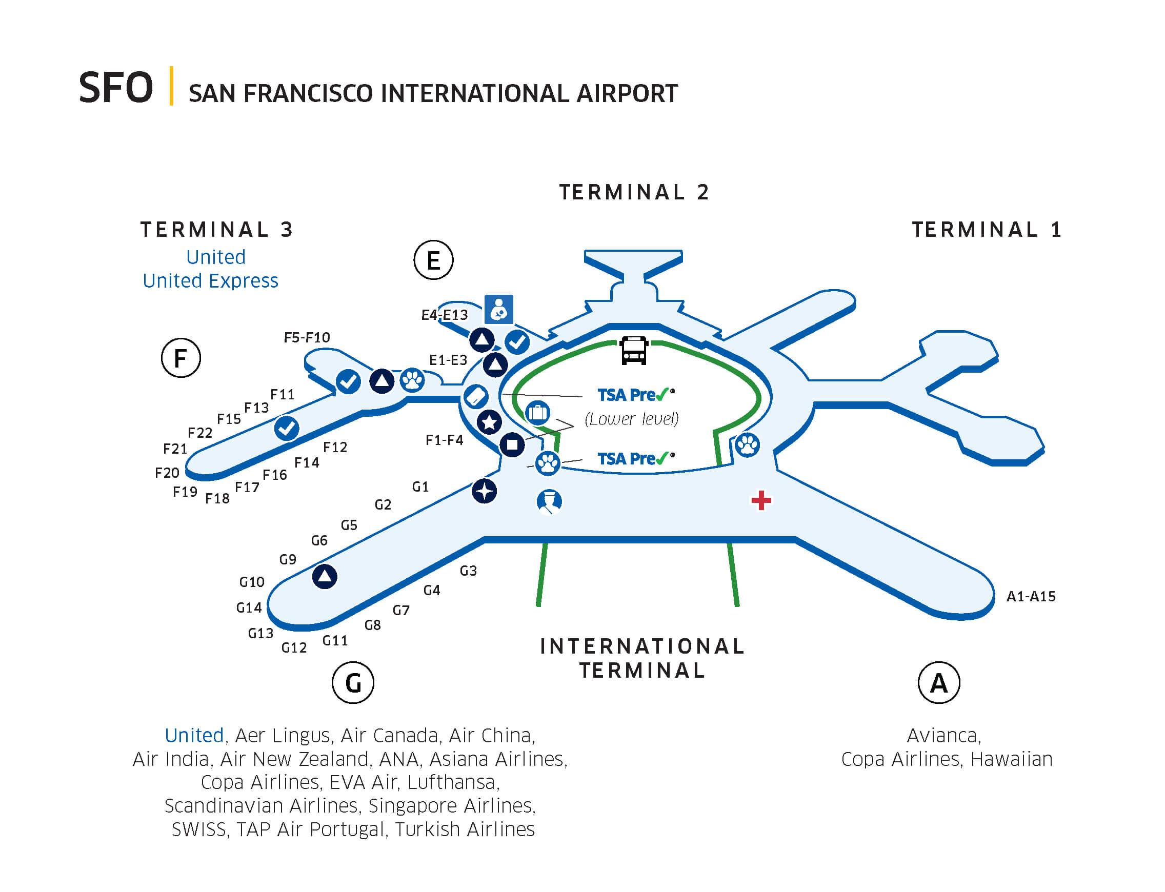 San Francisco International Airport (SFO) - Starting October 16, 2019