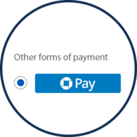 Other forms of payment | Chasepay button