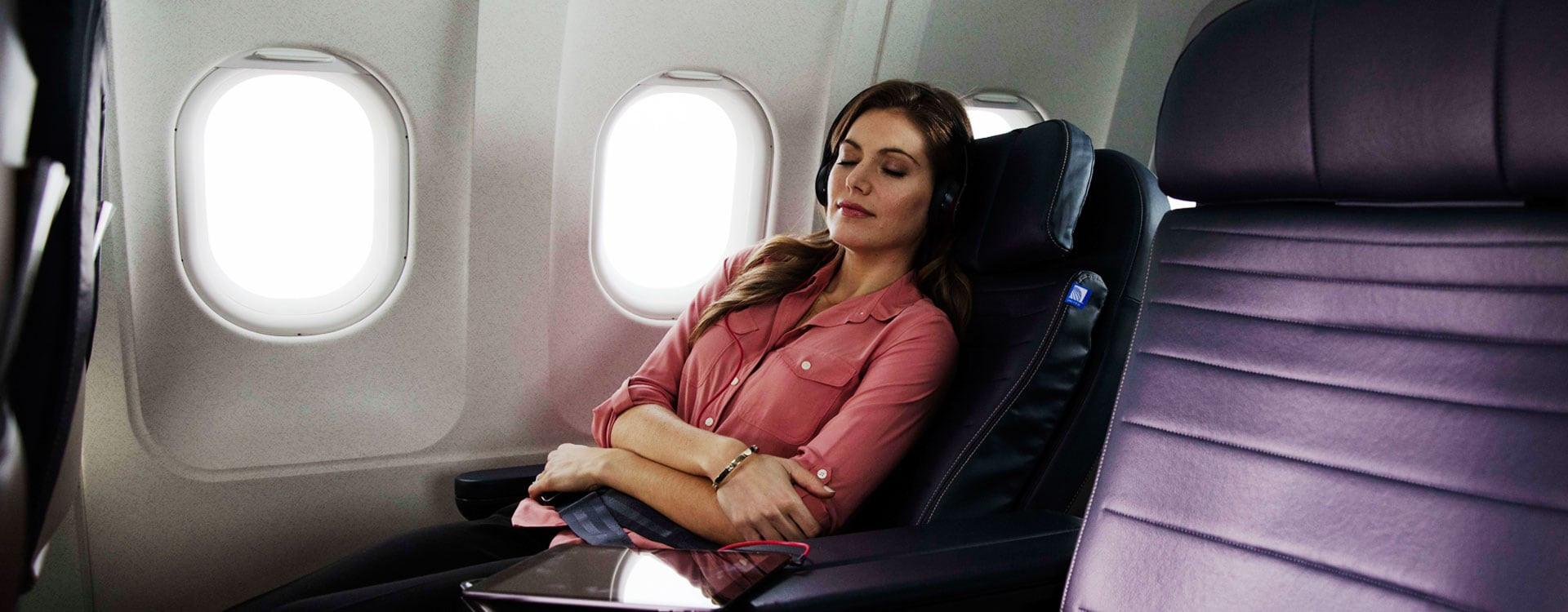 Stretch out in a premium seat