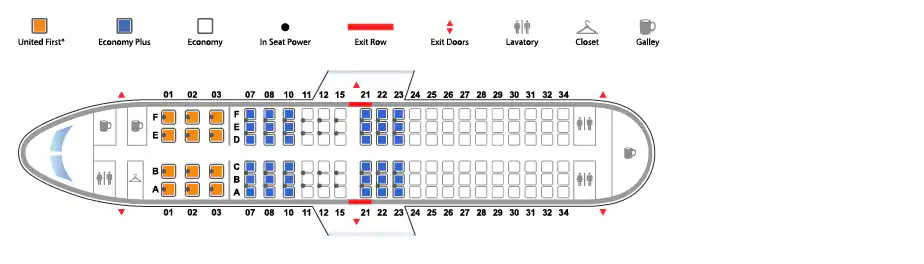 Boeing 737-700 United Airlines seating