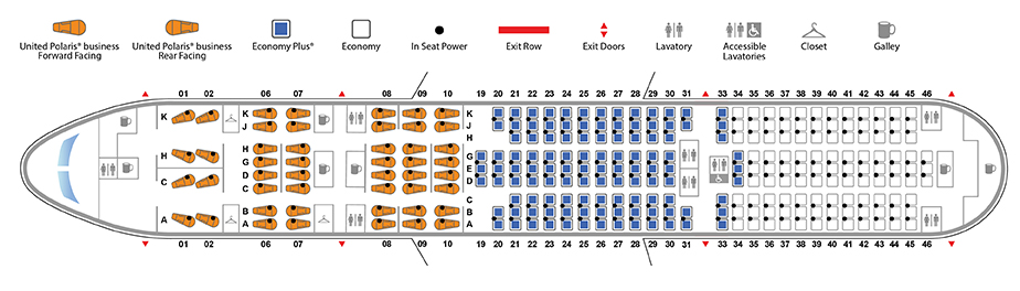 Boeing 777 version 1 United Airlines seat map