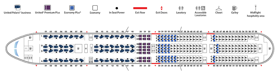 777 Seat Map Boeing 777 300ER (77X) | United Airlines
