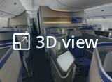 Open 3D view from United Polaris business cabin. This will open in a new tab.