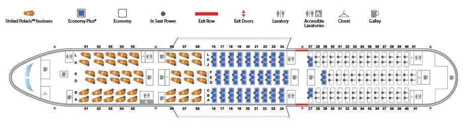 Boeing 787-9 Dreamliner Interior Seat Map