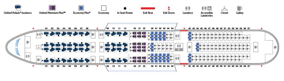 Boeing 787-9 Dreamliner Interior Seat Map version 2