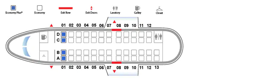 CRJ 200 United Airlines seating