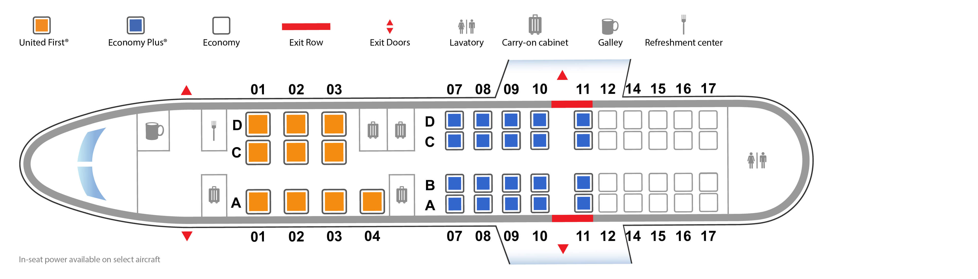 Bombardier CRJ 550 Seating map