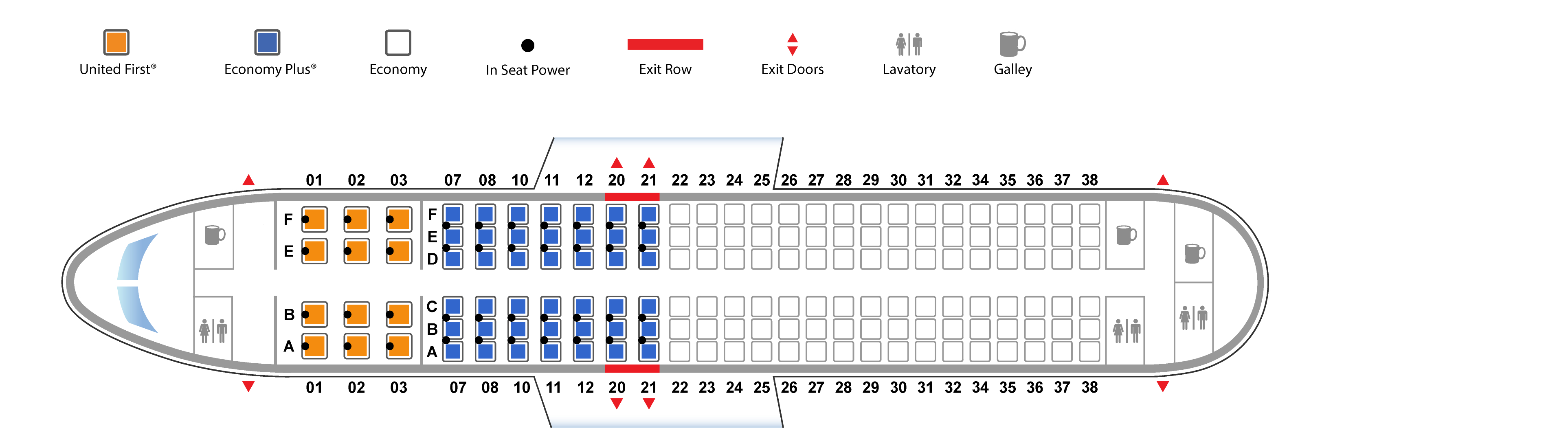 United Airlines Airbus 320 seating