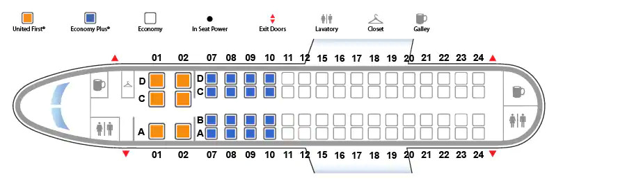 Embraer EMB 170 United Airlines seating