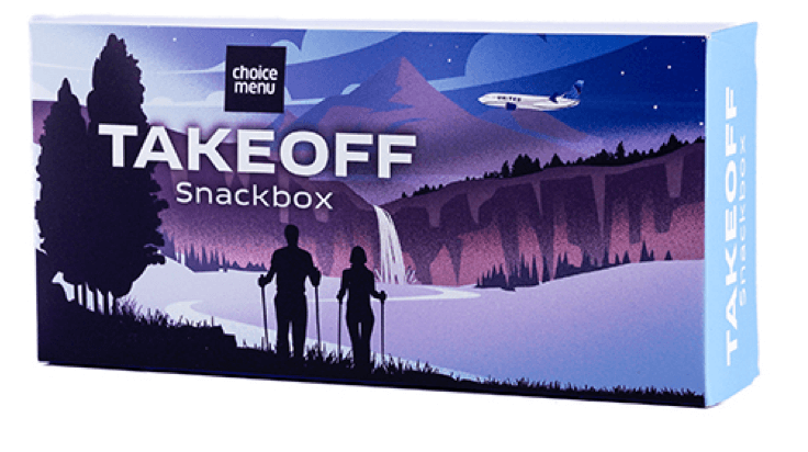Image of Takeoff snackbox select offered on the flight