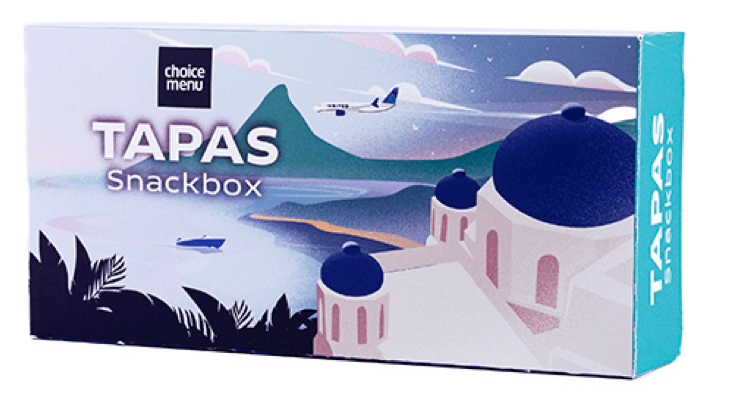 Image of Tapas snackbox select offered on the flight