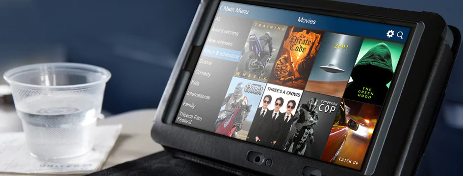 Inflight entertainment rental tablets are available on 777-200 aircraft flying select routes.