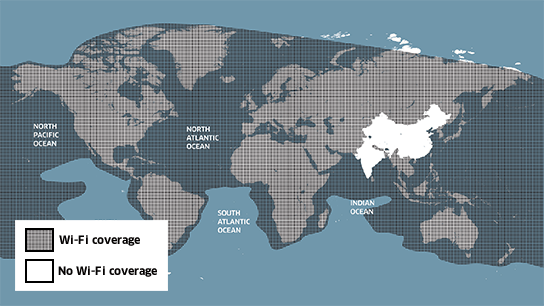Wi-Fi coverage with Panasonic is global, with the exception of China and India.