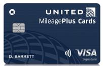 United MileagePlus Cards Visa sample image of card