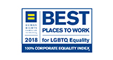Human Rights Campaign 2018 Best Places to Work for LGBT Equality – 100% Corporate Equality Index