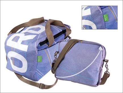 Eco-Skies upcycled travel bag