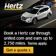 Ad: Book a Hertz car through united.com and earn up to 2,750 miles. Terms apply. Click here to get a quote.