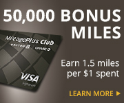 AD: Learn more about earning 50,000 bonus miles and 1.5 miles per dollar spent with the United MileagePlus Club Card.