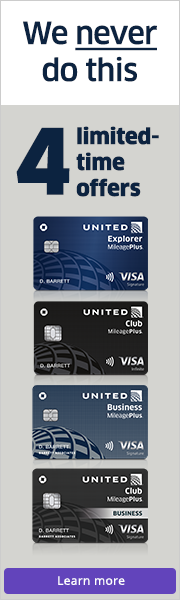 Advertisement: We never do this. Four limited-time credit card offers. Learn more.