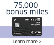 Advertisement: Limited-time offer. Earn 75,000 bonus miles and a United Club membership with the United Club Card.