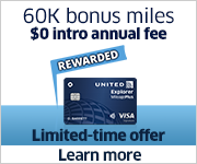 Advertisement: Limited-time offer - Earn 60,000 bonus miles with the United Explorer Card
