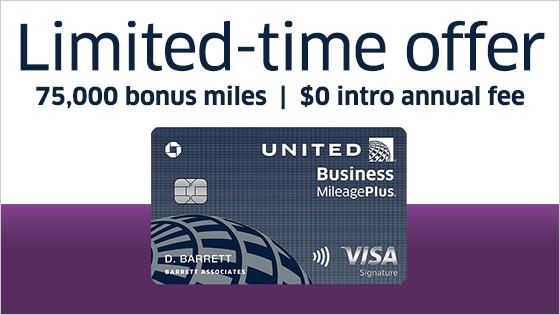 •Earn 75,000 bonus miles