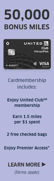 AD: Learn more about earning 50,000 miles and enjoying a United Club Membership with the United Club Card.