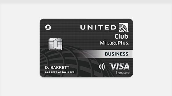 Earn 50,000 bonus miles. United Club MileagePlus Business Visa.