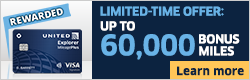 Advertisement: Learn about earning up to 60,000 bonus miles with the United Explorer Card.