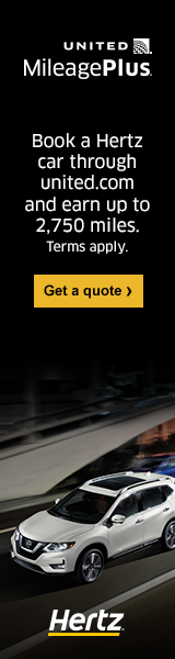 Advertisement: Book a Hertz car through united.com and earn up to 2,750 miles. Terms apply. Get a quote