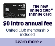 Advertisement: Enjoy a $0 intro annual fee and a United Club membership with the United Club Infinite Card.