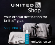 Advertisement: Your official destination for United® gear. Shop now.