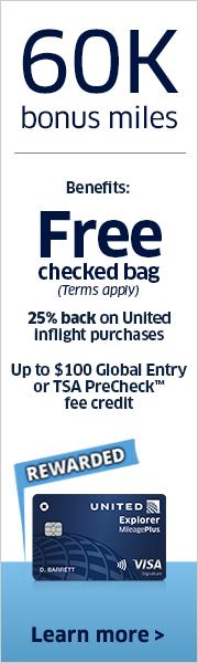 Advertisement: Earn 60,000 bonus miles with the United Explorer Card