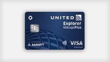 United Explorer MileagePlus Visa card