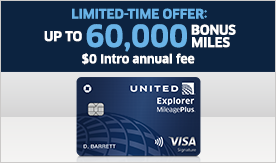 Limited Time Offer Up To Sixy Thousand Bonus Miles Zero Dollar Annual Fee