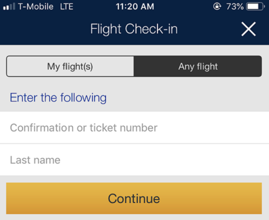 Open The United Click Check In Box And Enter Your Confirmation Or Eticket Number Last Name Designated Fields